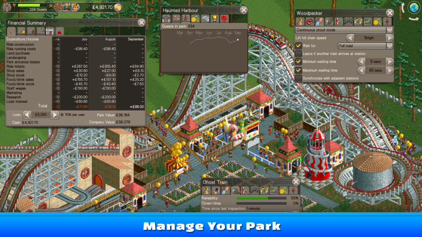 Screenshot 1 - RollerCoaster Tycoon Classic