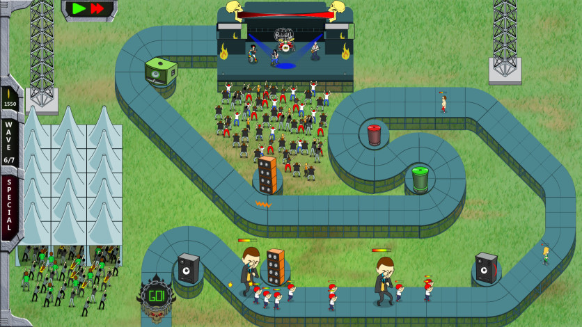 Screenshot 2 - Rock 'N' Roll Defense