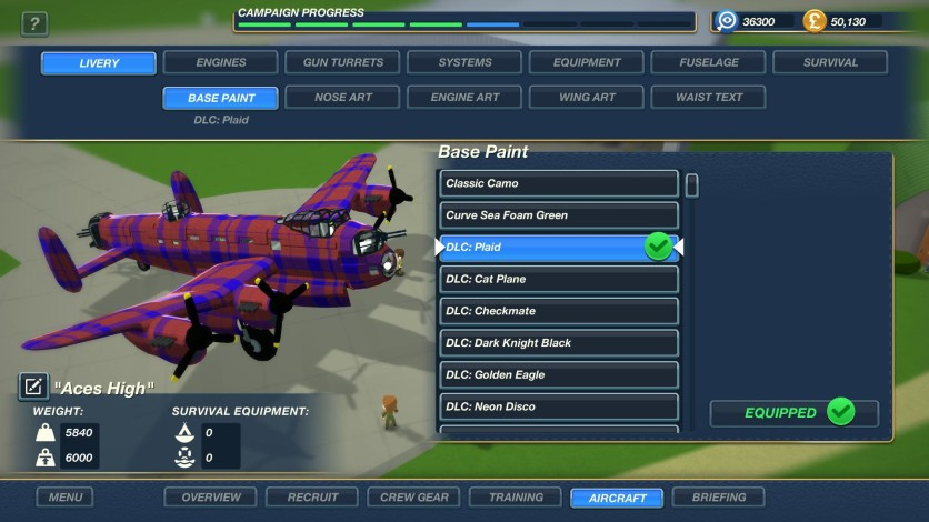 Screenshot 1 - Bomber Crew Skin Pack