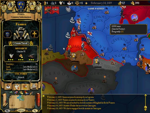 Screenshot 5 - For The Glory: A Europa Universalis Game