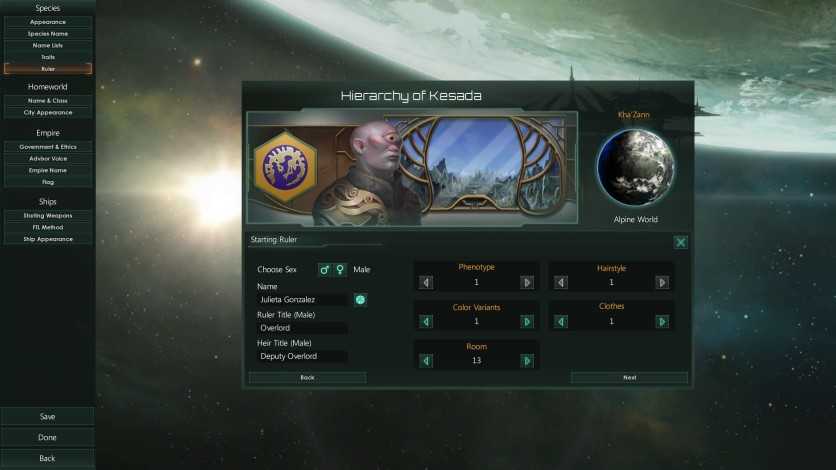 Screenshot 6 - Stellaris - Humanoids Species Pack