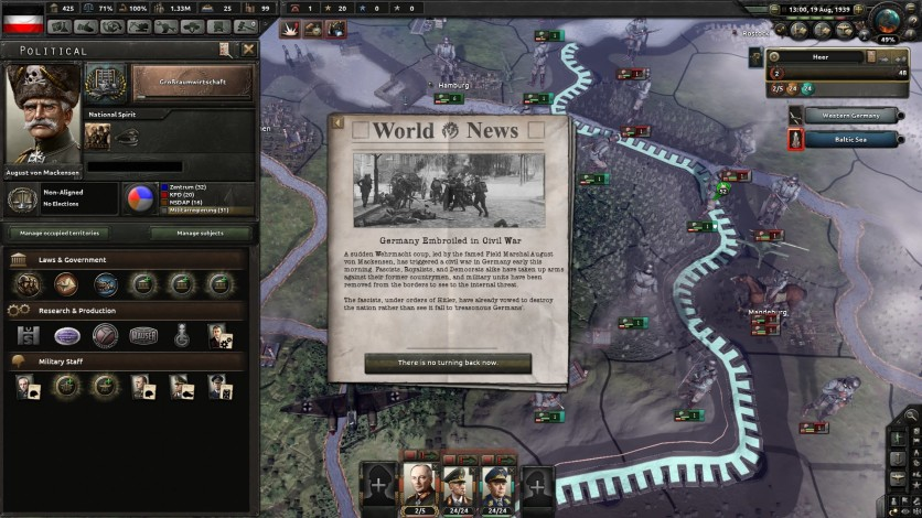 Screenshot 6 - Hearts of Iron IV: Waking the Tiger