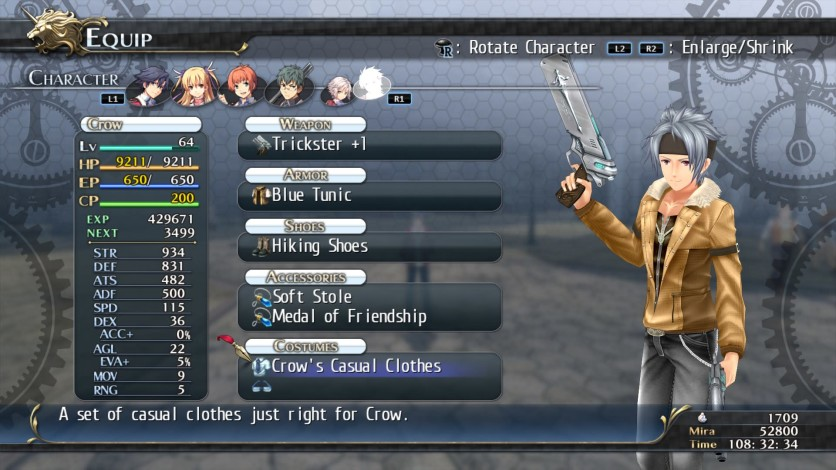 Screenshot 12 - The Legend of Heroes: Trails of Cold Steel - Class VII Casuals Set