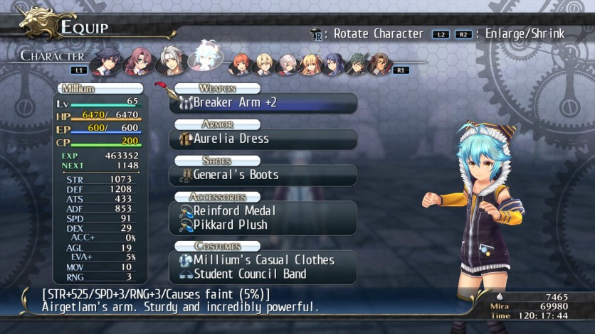 Screenshot 11 - The Legend of Heroes: Trails of Cold Steel - Class VII Casuals Set