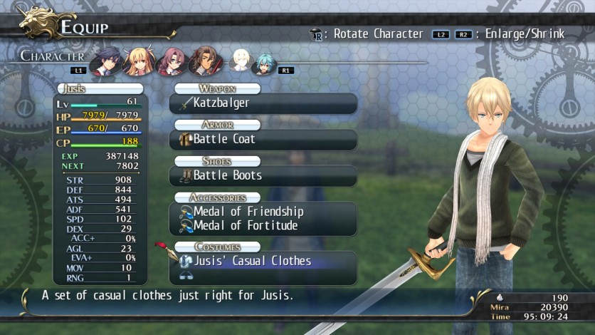 Screenshot 8 - The Legend of Heroes: Trails of Cold Steel - Class VII Casuals Set