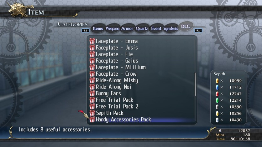 Screenshot 2 - The Legend of Heroes: Trails of Cold Steel - Special Items