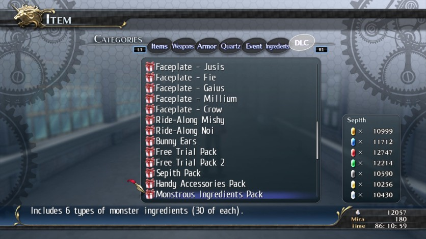 Screenshot 3 - The Legend of Heroes: Trails of Cold Steel - Special Items
