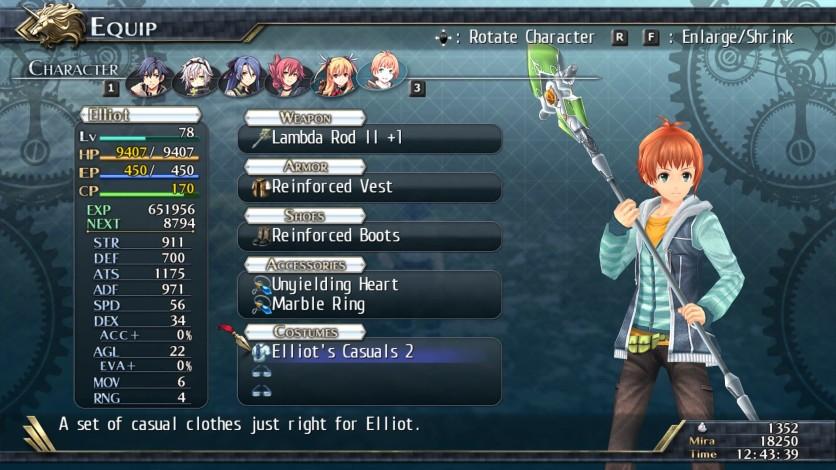 Screenshot 6 - The Legend of Heroes: Trails of Cold Steel II - All Casual Clothes