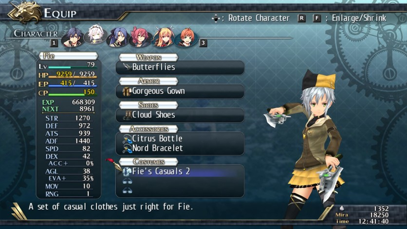 Screenshot 2 - The Legend of Heroes: Trails of Cold Steel II - All Casual Clothes
