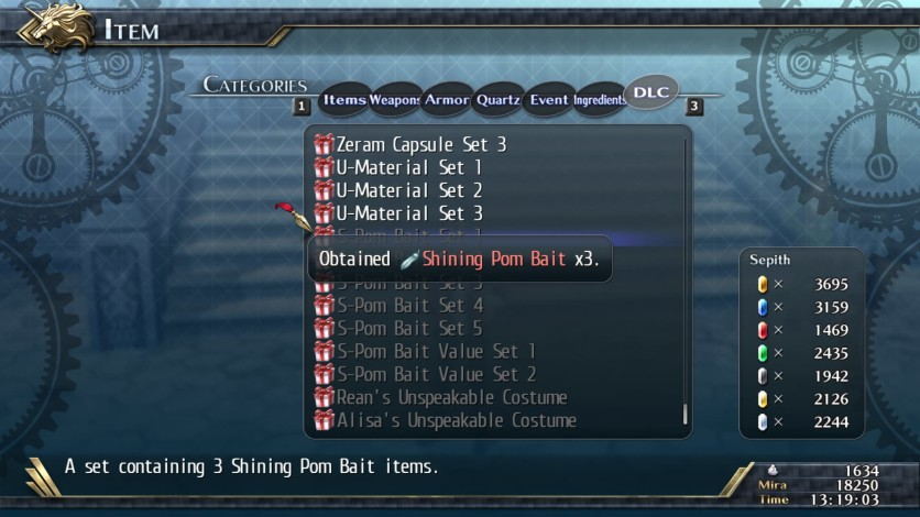 Screenshot 2 - The Legend of Heroes: Trails of Cold Steel II - Shining Pom Bait Set 1