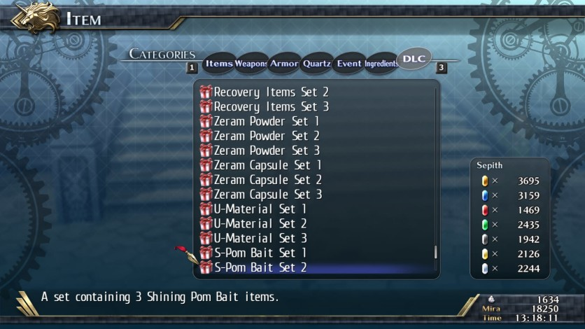 Screenshot 1 - The Legend of Heroes: Trails of Cold Steel II - Shining Pom Bait Set 2