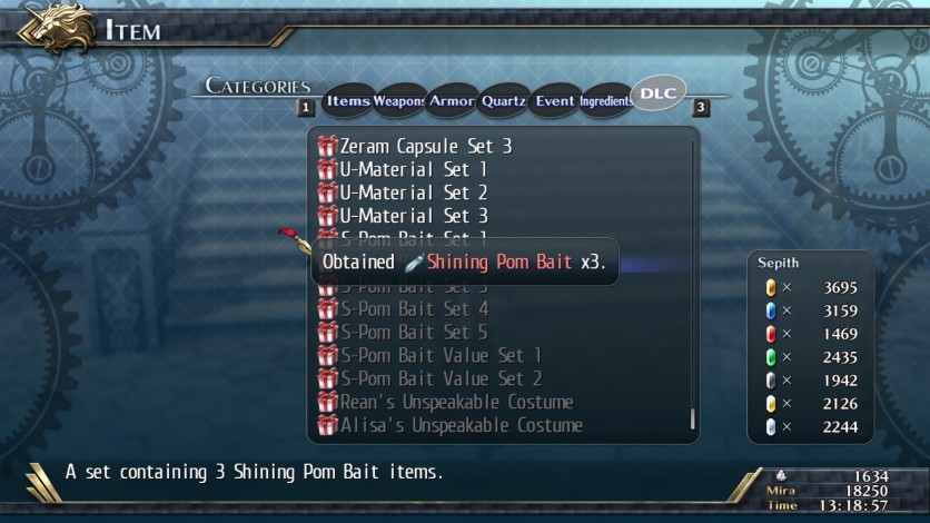 Screenshot 2 - The Legend of Heroes: Trails of Cold Steel II - Shining Pom Bait Set 2