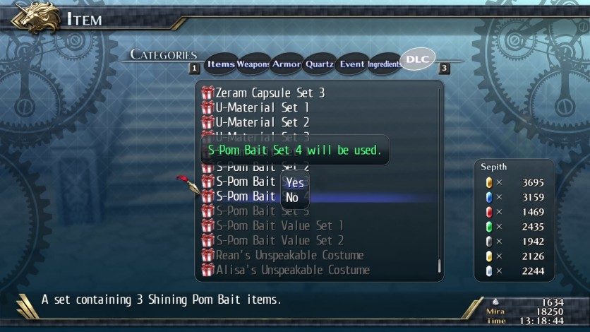 Screenshot 1 - The Legend of Heroes: Trails of Cold Steel II - Shining Pom Bait Set 4