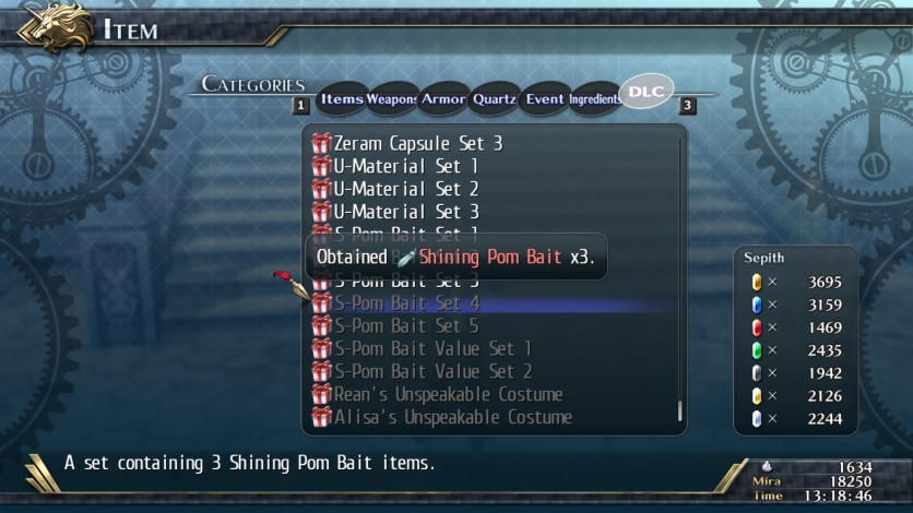 Screenshot 2 - The Legend of Heroes: Trails of Cold Steel II - Shining Pom Bait Set 4