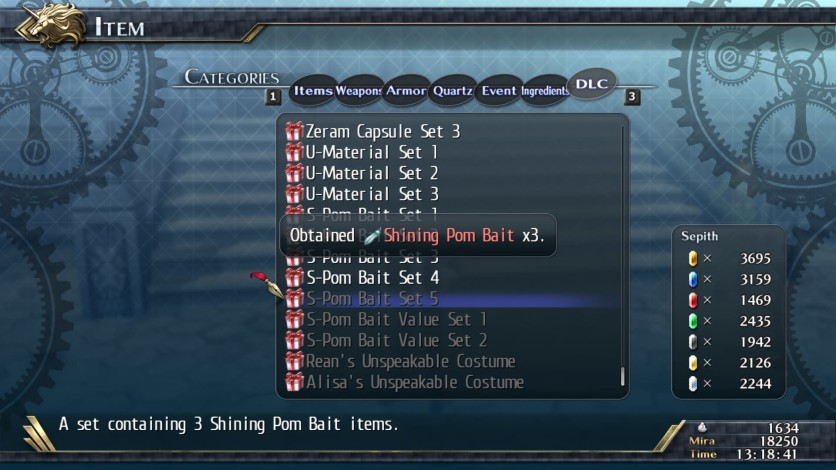 Screenshot 2 - The Legend of Heroes: Trails of Cold Steel II - Shining Pom Bait Set 5