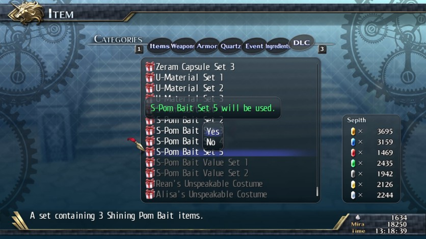 Screenshot 1 - The Legend of Heroes: Trails of Cold Steel II - Shining Pom Bait Set 5