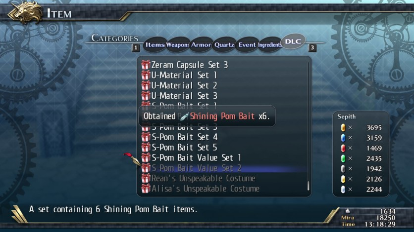 Screenshot 2 - The Legend of Heroes: Trails of Cold Steel II - Shining Pom Bait Value Set 2
