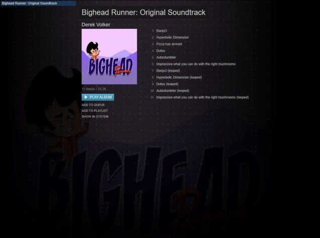 Screenshot 1 - Bighead Runner - Sounstrack