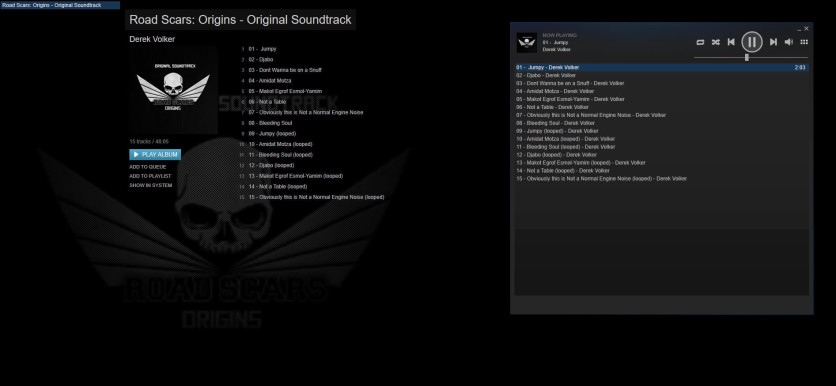 Screenshot 1 - Road Scars: Origins - Soundtrack