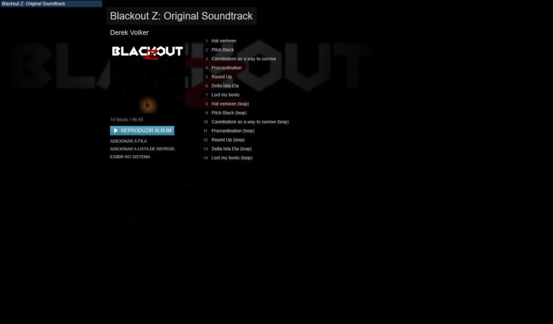 Screenshot 1 - Blackout Z: Original - Soundtrack