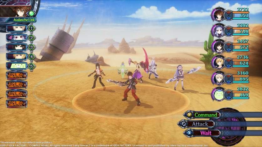 Screenshot 1 - Fairy Fencer F - Advent Dark Force