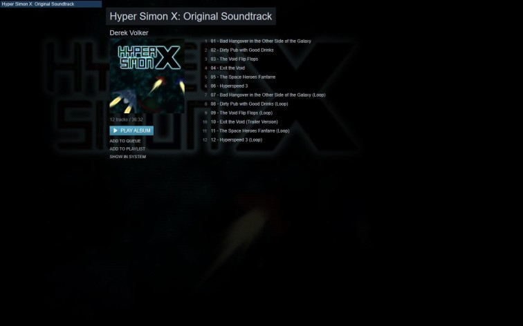 Screenshot 1 - Hyper Simon X - Soundtrack