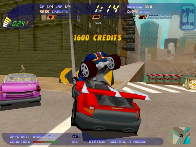 Screenshot 1 - Carmageddon 2 Carpocalypse Now