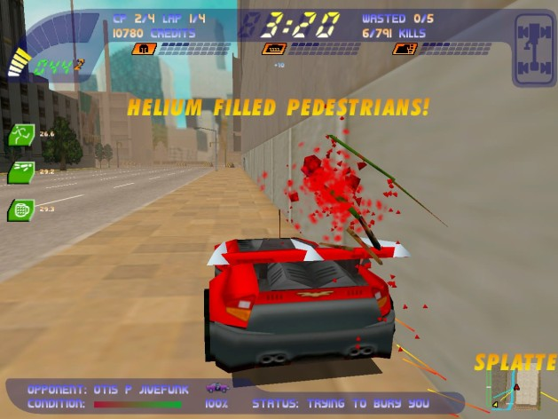 Screenshot 2 - Carmageddon 2 Carpocalypse Now