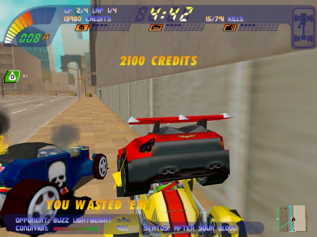 Screenshot 3 - Carmageddon 2 Carpocalypse Now