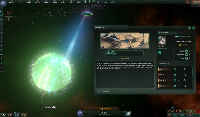 Screenshot 1 - Stellaris: Ancient Relics Story Pack