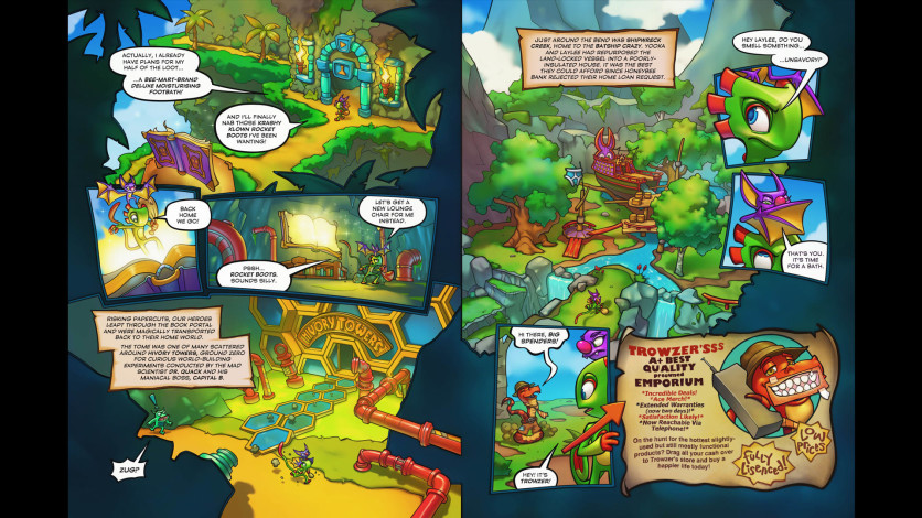 Screenshot 5 - Yooka-Laylee and the Kracklestone - Graphic Novel