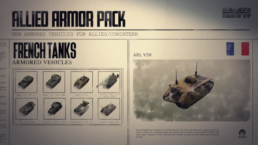 Screenshot 9 - Hearts of Iron IV: Allied Armor Pack