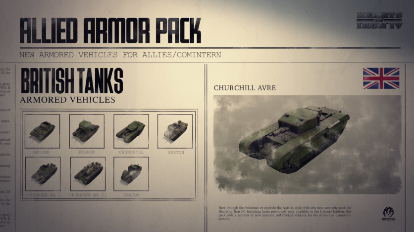 Screenshot 7 - Hearts of Iron IV: Allied Armor Pack