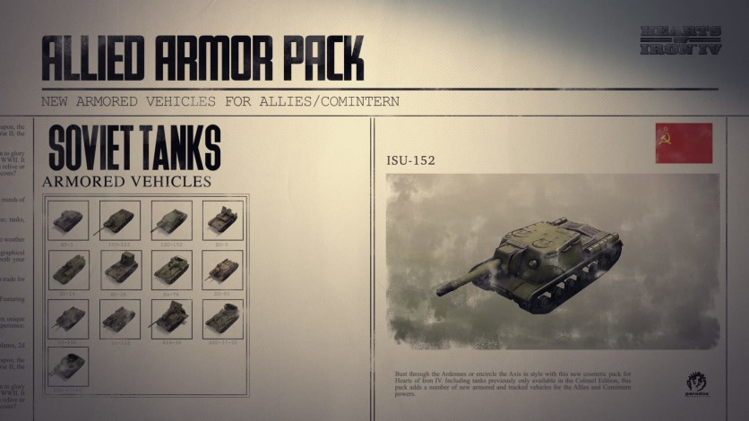 Screenshot 6 - Hearts of Iron IV: Allied Armor Pack