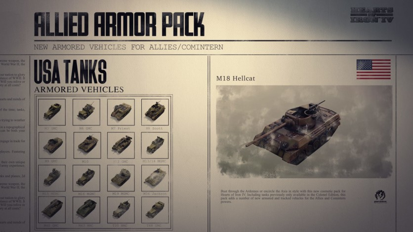 Screenshot 8 - Hearts of Iron IV: Allied Armor Pack