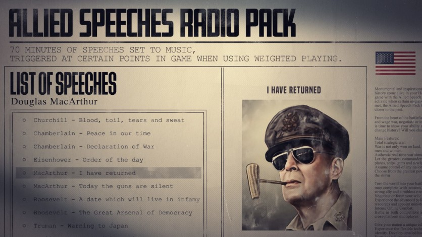 Screenshot 8 - Hearts of Iron IV: Allied Speeches Music Pack