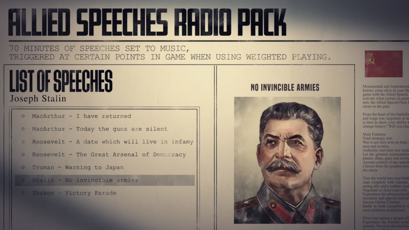 Screenshot 5 - Hearts of Iron IV: Allied Speeches Music Pack