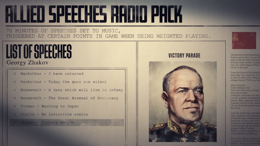 Screenshot 6 - Hearts of Iron IV: Allied Speeches Music Pack