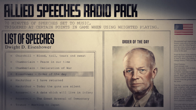 Screenshot 7 - Hearts of Iron IV: Allied Speeches Music Pack