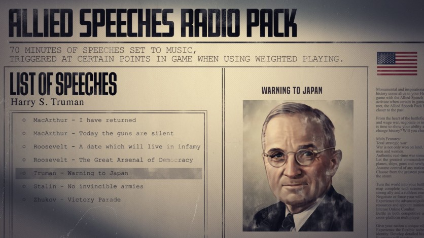Screenshot 4 - Hearts of Iron IV: Allied Speeches Music Pack