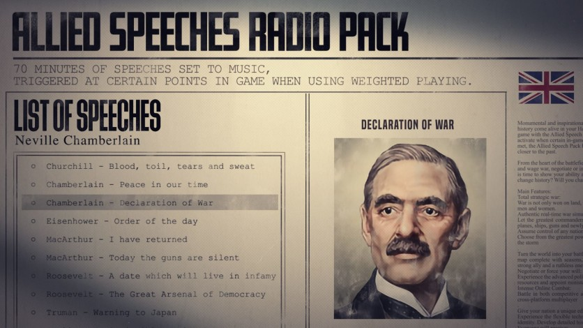 Screenshot 2 - Hearts of Iron IV: Allied Speeches Music Pack