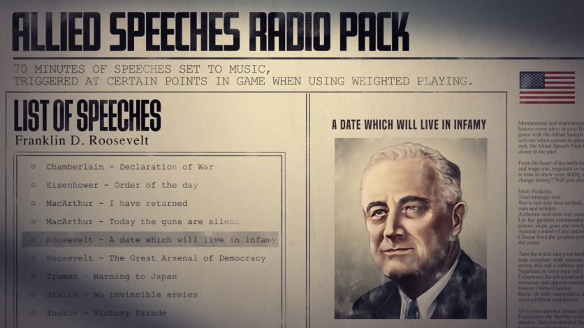 Screenshot 3 - Hearts of Iron IV: Allied Speeches Music Pack