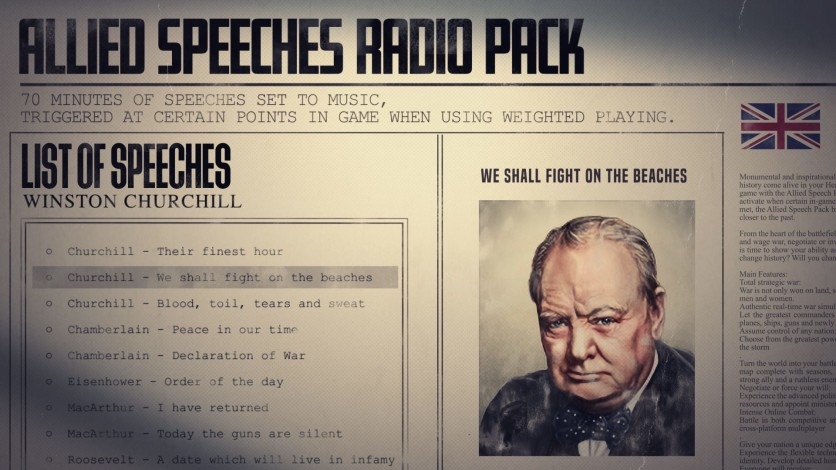 Screenshot 9 - Hearts of Iron IV: Allied Speeches Music Pack